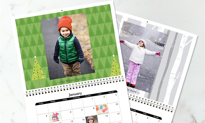 "Snapfish: 8.5""x11"" or 12""x12"" Custom 12-Month Calendar from Snapfish (50% Off)"