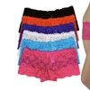 Women's Floral Lace Cheeky Boyshorts (6-Pack)