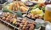 大阪府/梅田・茶屋町 ≪炭火焼鳥、串カツなど180分食べ飲み放題コース+水炊き鍋≫