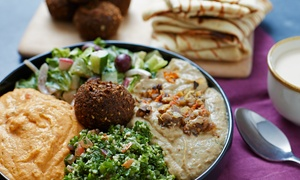 mediterranean Grill & Go: Falafel with a Side at mediterranean Grill & Go (44% Off)