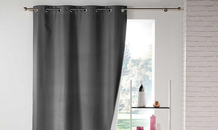 rideaux isolants thermiques groupon. Black Bedroom Furniture Sets. Home Design Ideas