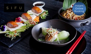 SIFU: Contemporary Fine Dining Chinese Banquet for One ($39), Five ($169) or 15 People ($499) at SIFU (Up to $1,555 Value)
