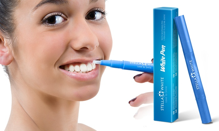 Groupon Goods Global GmbH: One, Two or Three Stella White Teeth Whitening  Pens ...