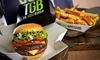Menú de hamburguesa o ensalada