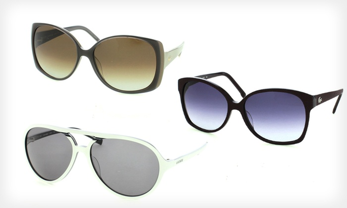 Lacoste Designer Sunglasses: $59.99 for Women's or Unisex Lacoste Sunglasses (Up to $206.57 List Price). 10 Options Available. Free Shipping.