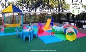 Brincadeiras Mágicas: Brincadeiras Mágicas - Olaria: locação espaço baby + casinha de bolinhas + cama elástica