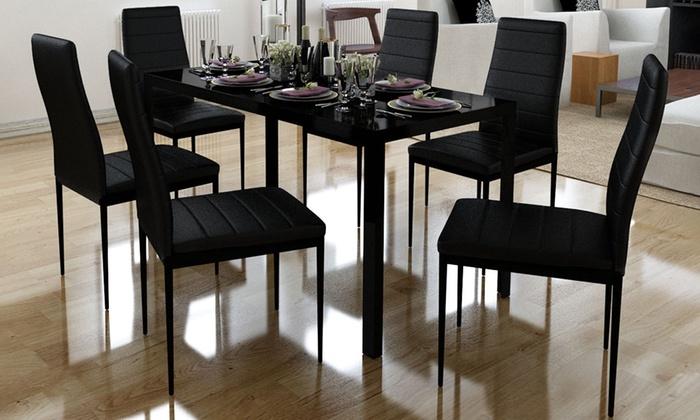 Set tavola da pranzo con sedie groupon goods - Sedie diva groupon recensioni ...