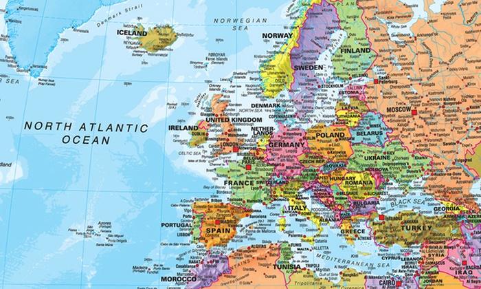 Carte Du Monde Plastifiee.Jusqu A 78 Affiches Carte Du Monde Plastifiee Groupon