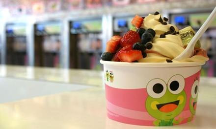 Four Frozen Yogurts with Toppings at Sweet Frog Washington (45% Off)