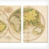 $119 for a Gallery-Wrapped Triptych World Map