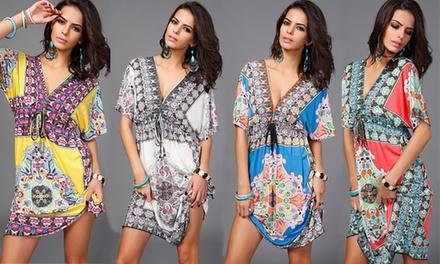 1 of 2 jurken in bohemianstijl in kleur en maat naar keuze