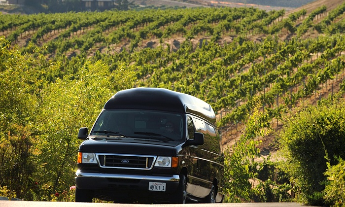 A Vineyard Tour of Temecula - Old Town Temecula: Wine Tour with Tastings for Six from A Vineyard Tour of Temecula (46% Off)