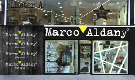 Sesión de peluquería para hombre o mujer con corte, masaje y champú en Marco Aldany (hasta 72% de descuento)