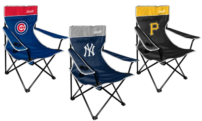 Mlb Coleman Tailgate Quad Folding Chair Groupon