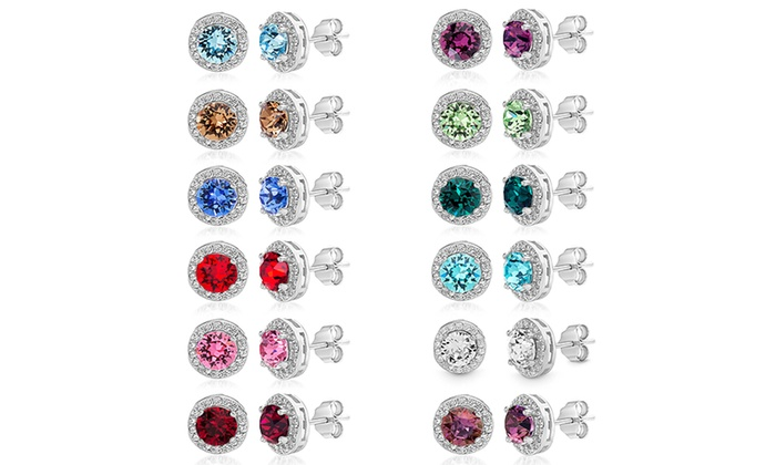 2f792e4848500 Up To 91% Off on Swarovski Crystals Stud Earrings | Groupon Goods