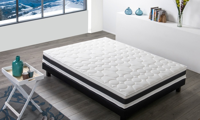 matelas chamonix m moire de forme groupon. Black Bedroom Furniture Sets. Home Design Ideas