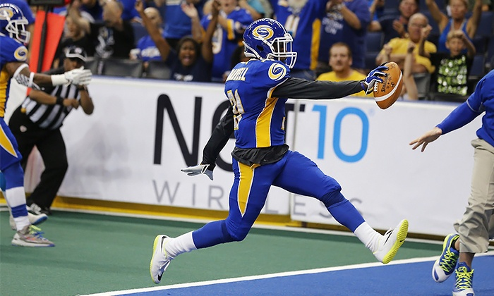 Tampa Bay Storm - Tampa: Tampa Bay Storm Arena Football Game at Amalie Arena on April 10, May 2 or 30, or July 11 (Up to 44% Off)