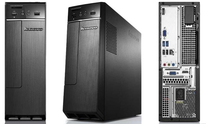 Lenovo IdeaCentre 300s Desktop PC Tower with 1.6GHz Intel N3700 Quad-Core Processor & Optional P...