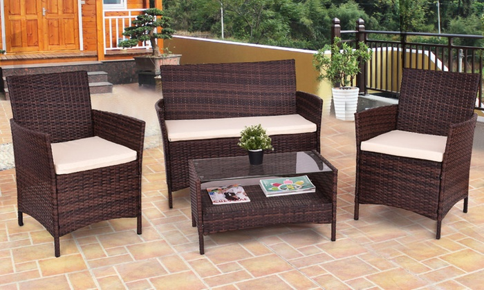 Enjoyable Up To 10 Off On Costway Outdoor Furniture Set Groupon Goods Home Interior And Landscaping Ologienasavecom