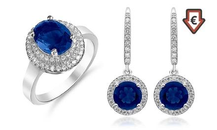 Parure Passion Jewellery plaqué rhodium et ornée de Saphir de synthèse à 27,90 €