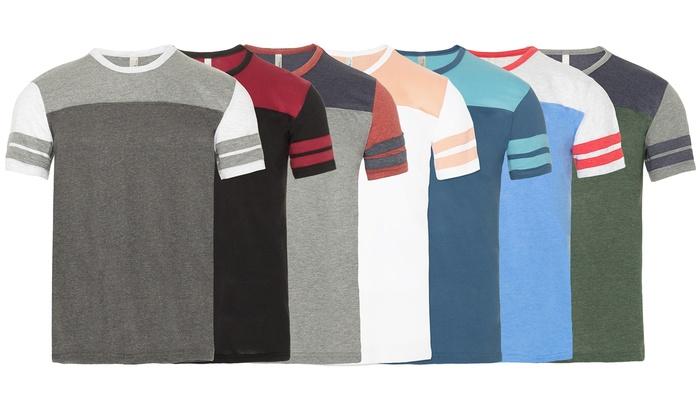 Men's Short-Sleeved Color-Block T-Shirt