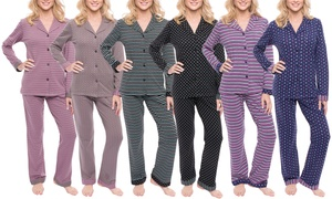 Noble Mount Double-Layer Knit Jersey Pajama Set (2-Piece)