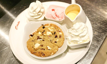 Cookie Dough with Ice Cream or Custard for Two or Four at Diletto