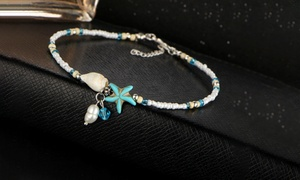 Freshwater Pearl Seabreeze Beaded Anklet by Diane Lo'ren