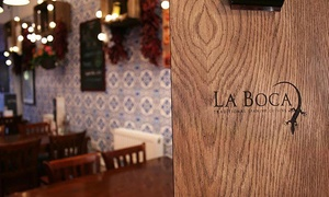 La Boca: Dish from the Grill with a Bottle of Wine for Two or Two Bottles of Wine for Four at La Boca (Up to 51% Off)
