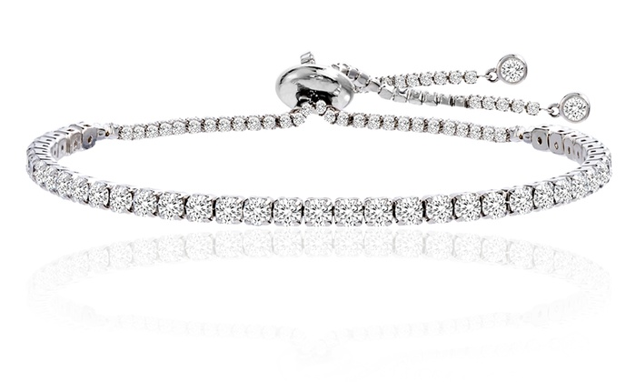 Studded Tennis Bracelet Made With Swarovski Crystals By Nina Grace