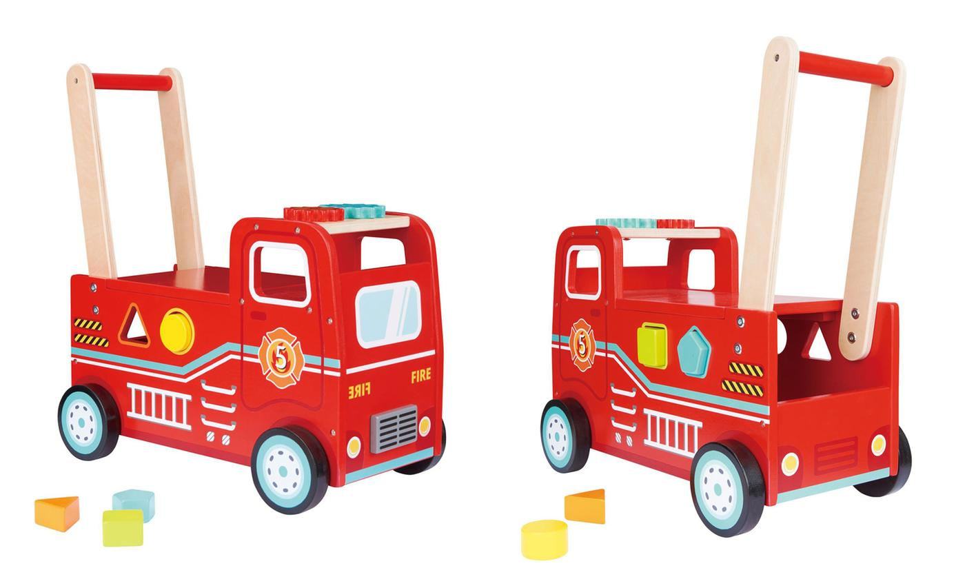 Lelin Kids' Fire Engine Push and Ride Toy