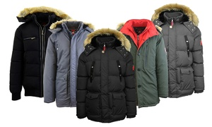 Spire By Galaxy Men's Winter Parka Jacket with Detachable Hood