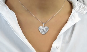 (Exclusive) Collier Coeur Pavé Philip Jones