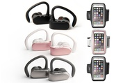 Jarv NMotion Free True Wireless Bluetooth Sport Stereo Earbuds with Optional Armband Bundle