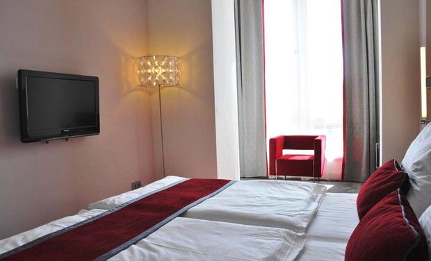 deal hotel design red blue design hotel 4 in prague na groupon getaways