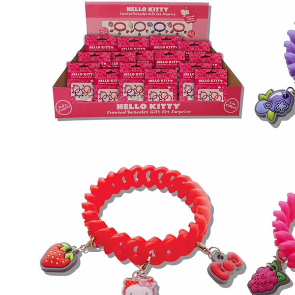 9c94c70e7 One or Two Hello Kitty Scented Charm Bracelet and Scented 3D Keyring Sets