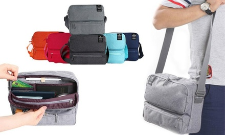 Multi-Compartment Messenger Travel Bag