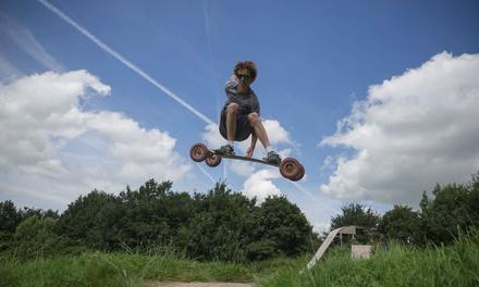 Een dagje zomerboarden op Mountainboardpark Groningen incl. les en materiaal