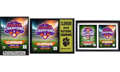 Shop Groupon Clemson National Champions Plaque or Double Matte Framed Photo 0f9702b31