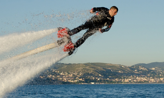Turbo Water Sports - The Nautical Mile: One-Hour Hoverboard or Flyboard or One- or Two-Hour Jet Ski Rental from Turbo Water Sports (Up to 41% Off)