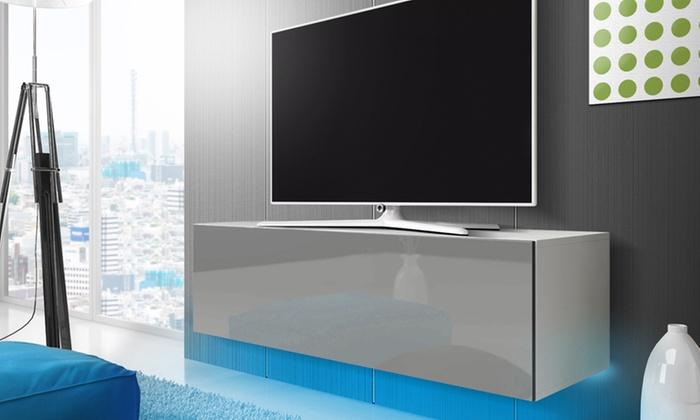 jusqu 39 56 meuble tv led selsey groupon. Black Bedroom Furniture Sets. Home Design Ideas
