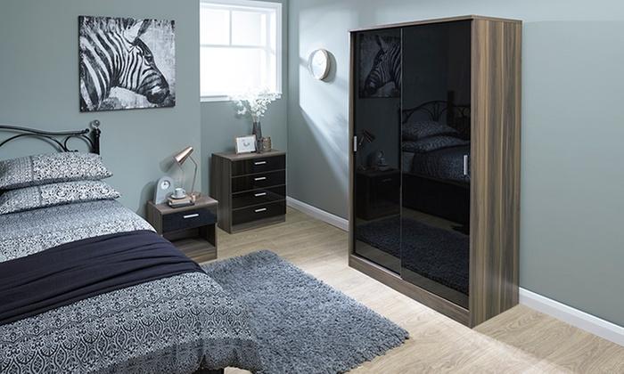 Geneva Gloss Bedroom Furniture | Groupon Goods