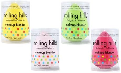 1 o 4 esponjas de maquillaje Rolling Hills en forma de huevos