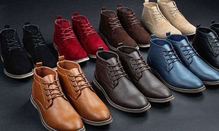 Gino Pheroni Men's Chukka Boots Groupon  Groupon
