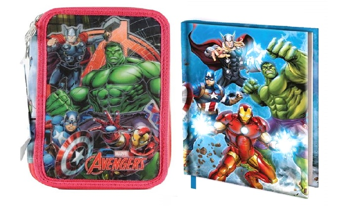 Kit astuccio e diario Disney Marvel