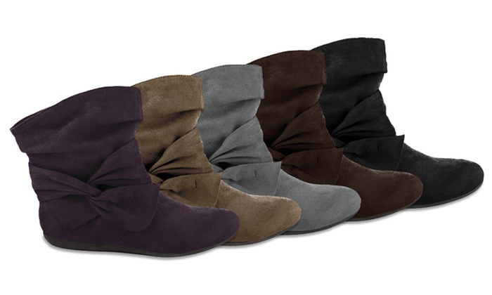 Rampage Women's Buckley Faux-Suede Boots: Rampage Women's Buckley Faux-Suede Ankle Boots. Multiple Colors Available.