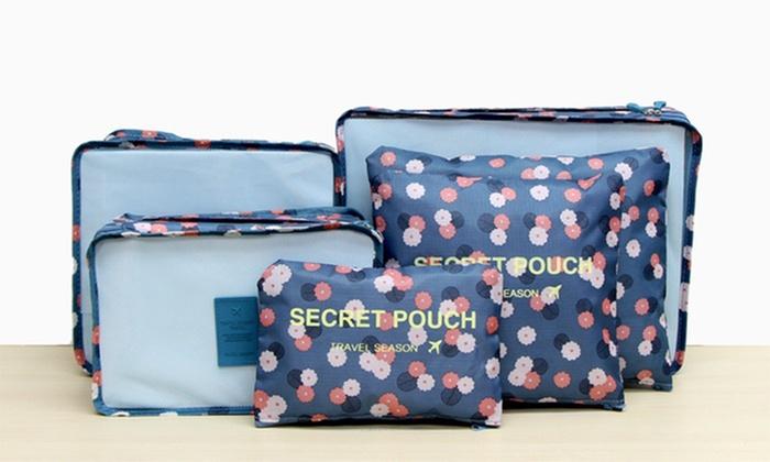 Six-Piece Patterned Luggage Organiser Set