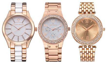 1 o 2 relojes con cristales de Swarovski® colección Facon de la marca Timothy Stone (envío gratuito)