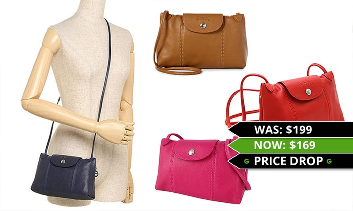 6a258e62a7ea Longchamp Le Pliage Cuir Bag | Groupon