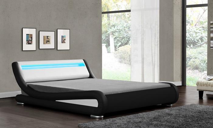 Galaxy LED Bedframe with Optional Mattress